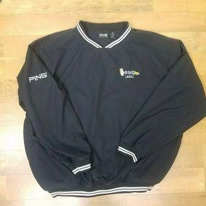 Go Daddy Legal Jacket Windbreaker XL Blue